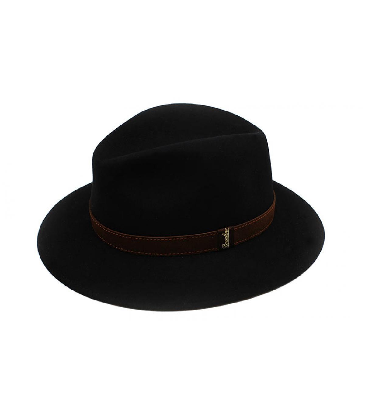 Détails Alessandria black Fur Flet Hat - image 3