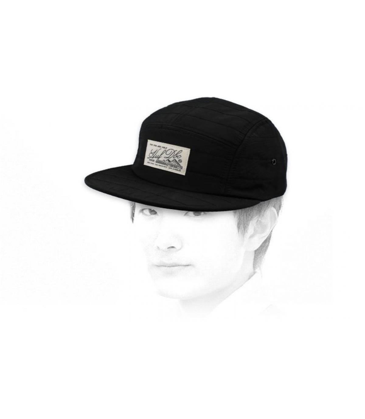 black 5 panel cap Huf