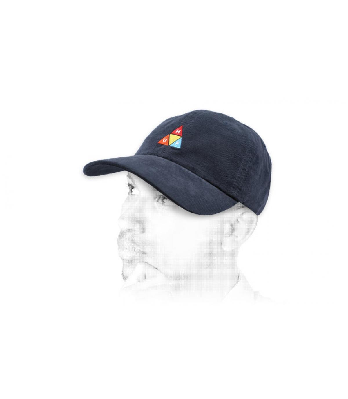 corduroy blue Huf cap