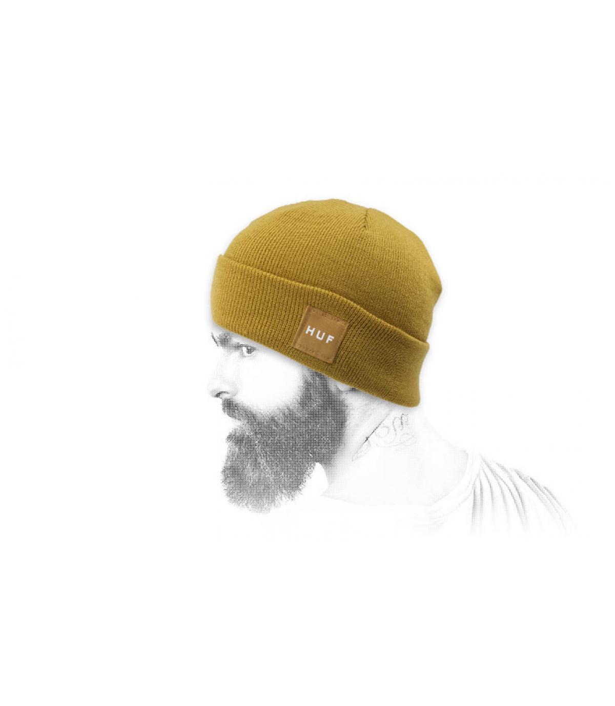 yellow cuffed beanie Huf