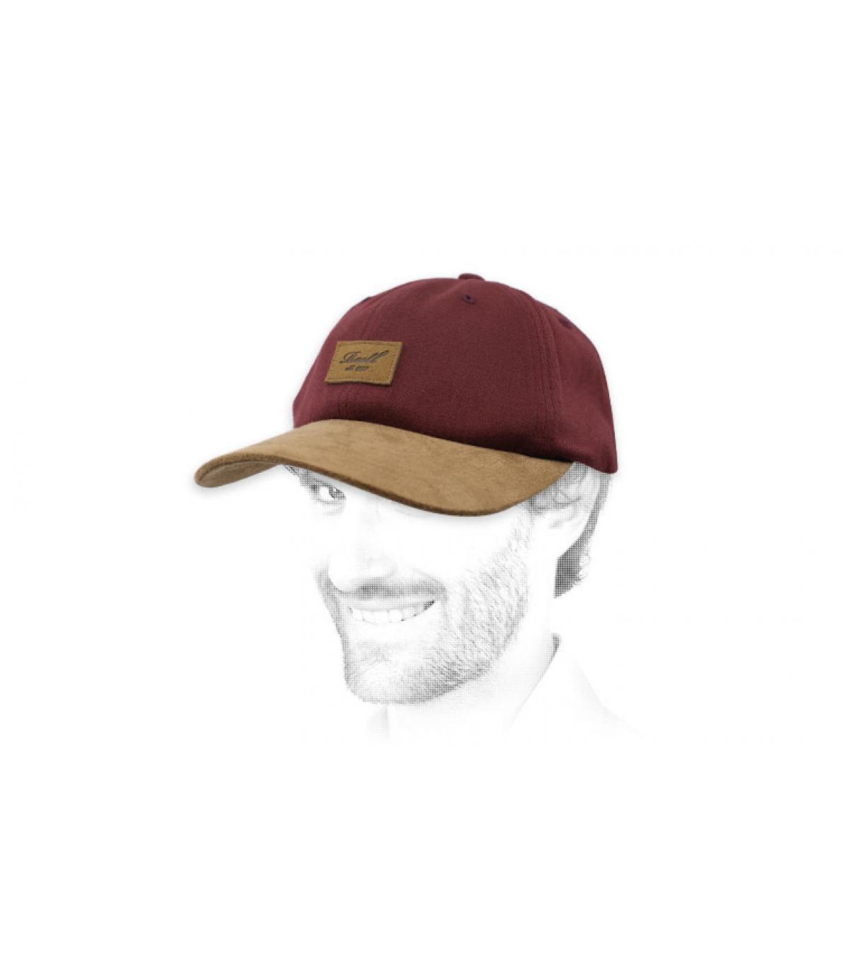 Reell burgundy cap