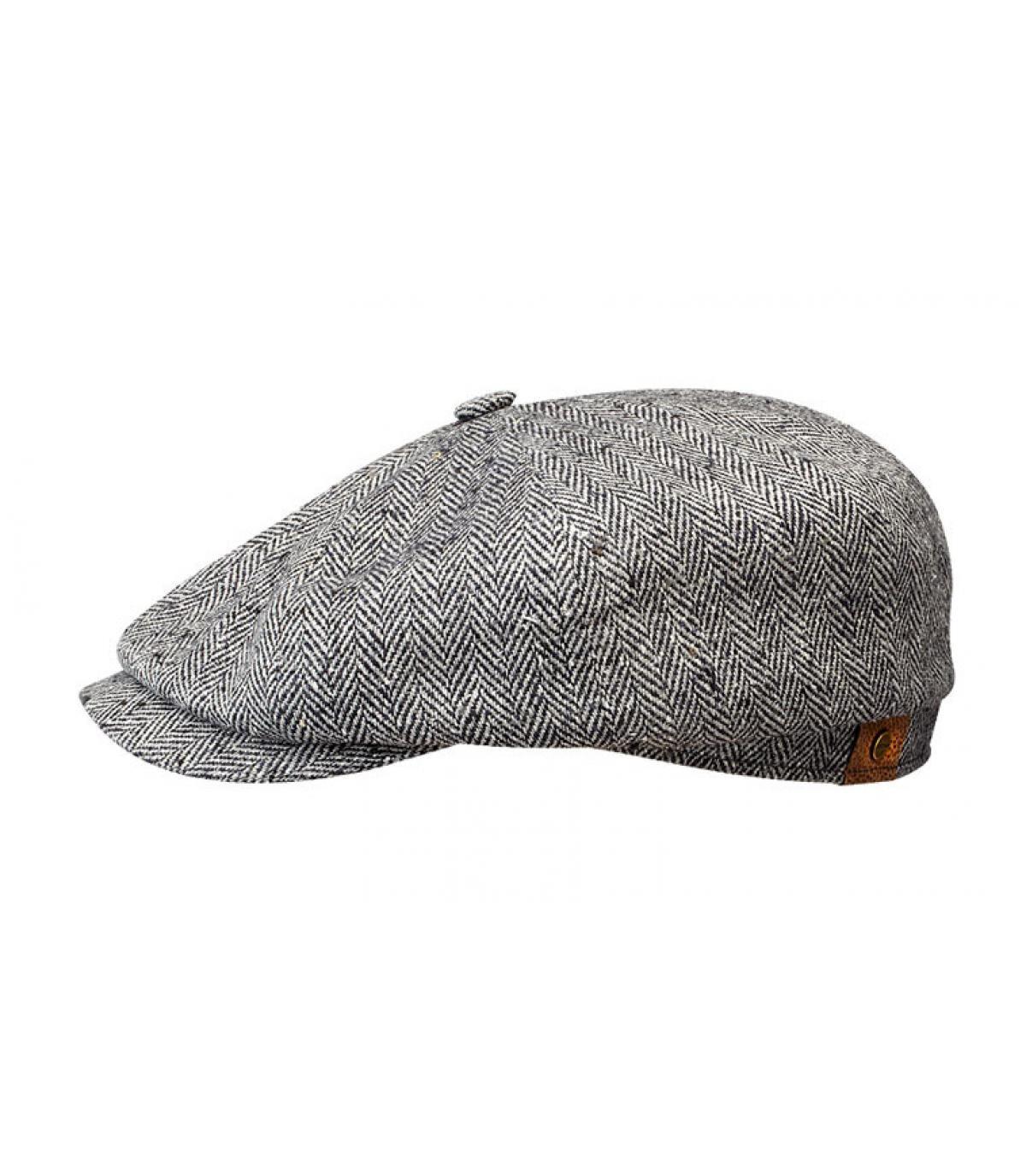 Silk parisian cap black