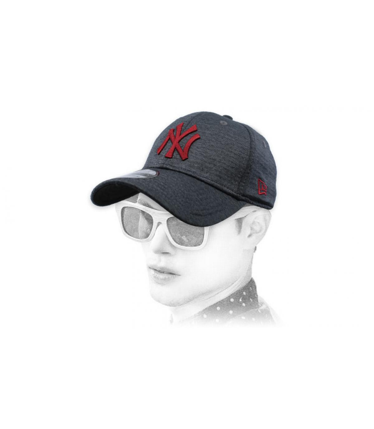 black grey NY cap