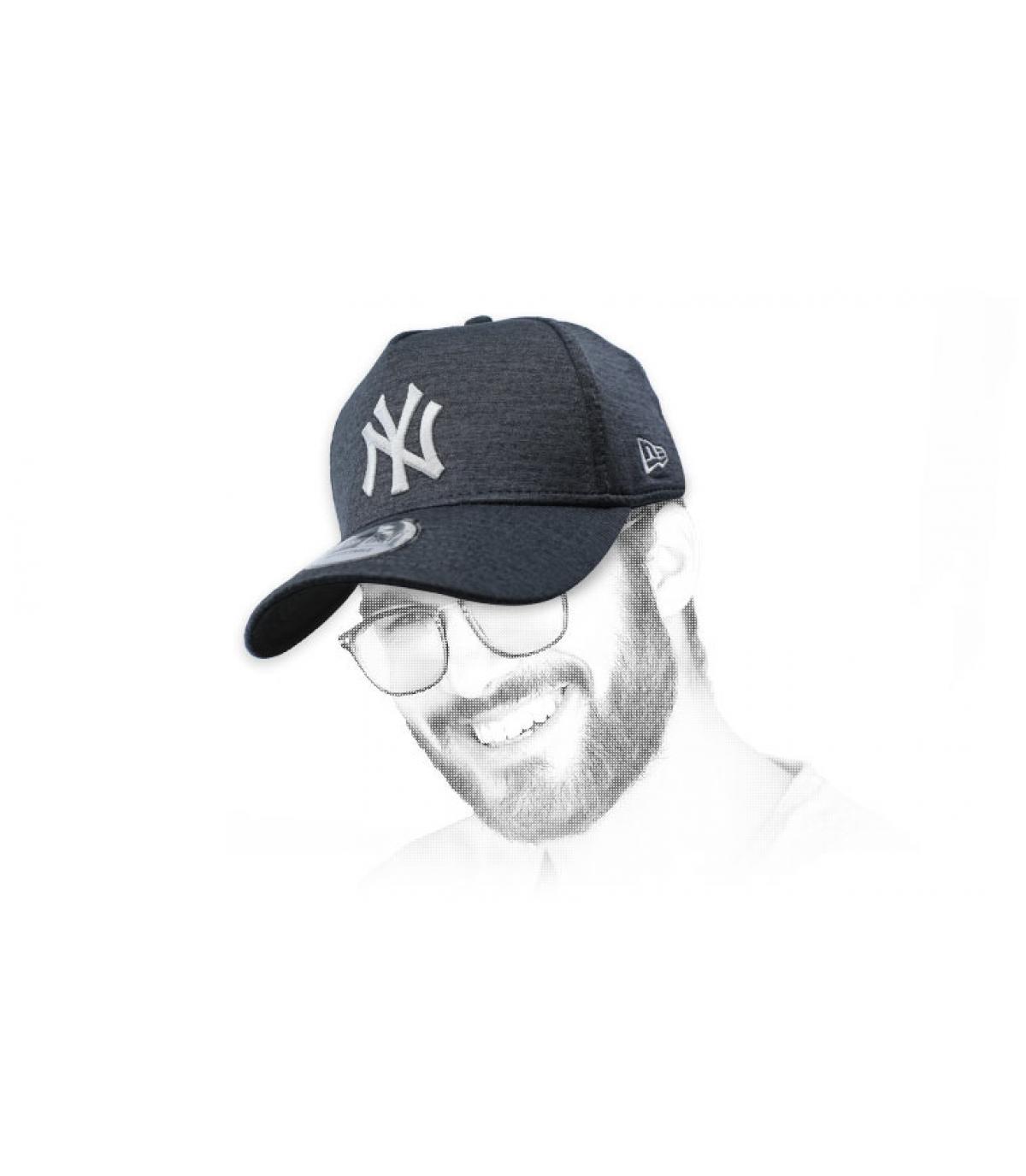 black grey NY cap AFrame