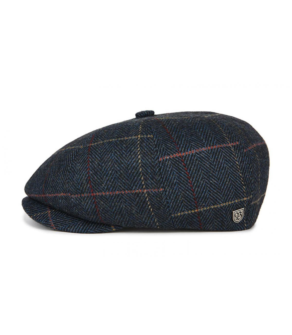 newsboy cap blue plaid