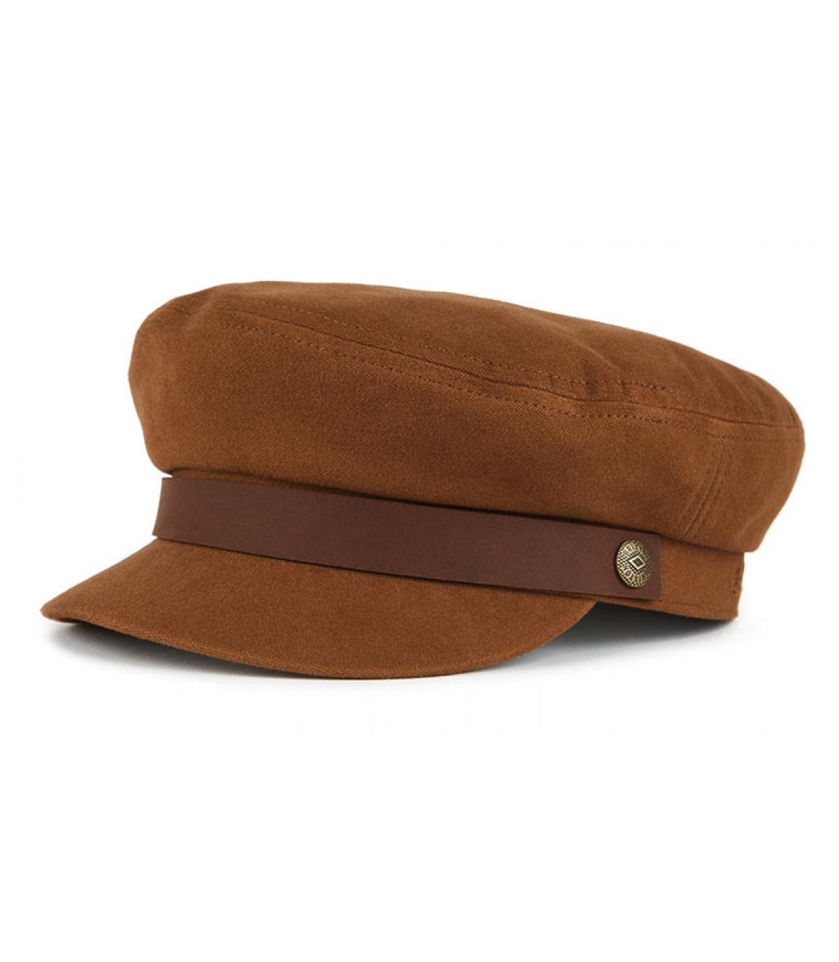 women brown fisherman cap