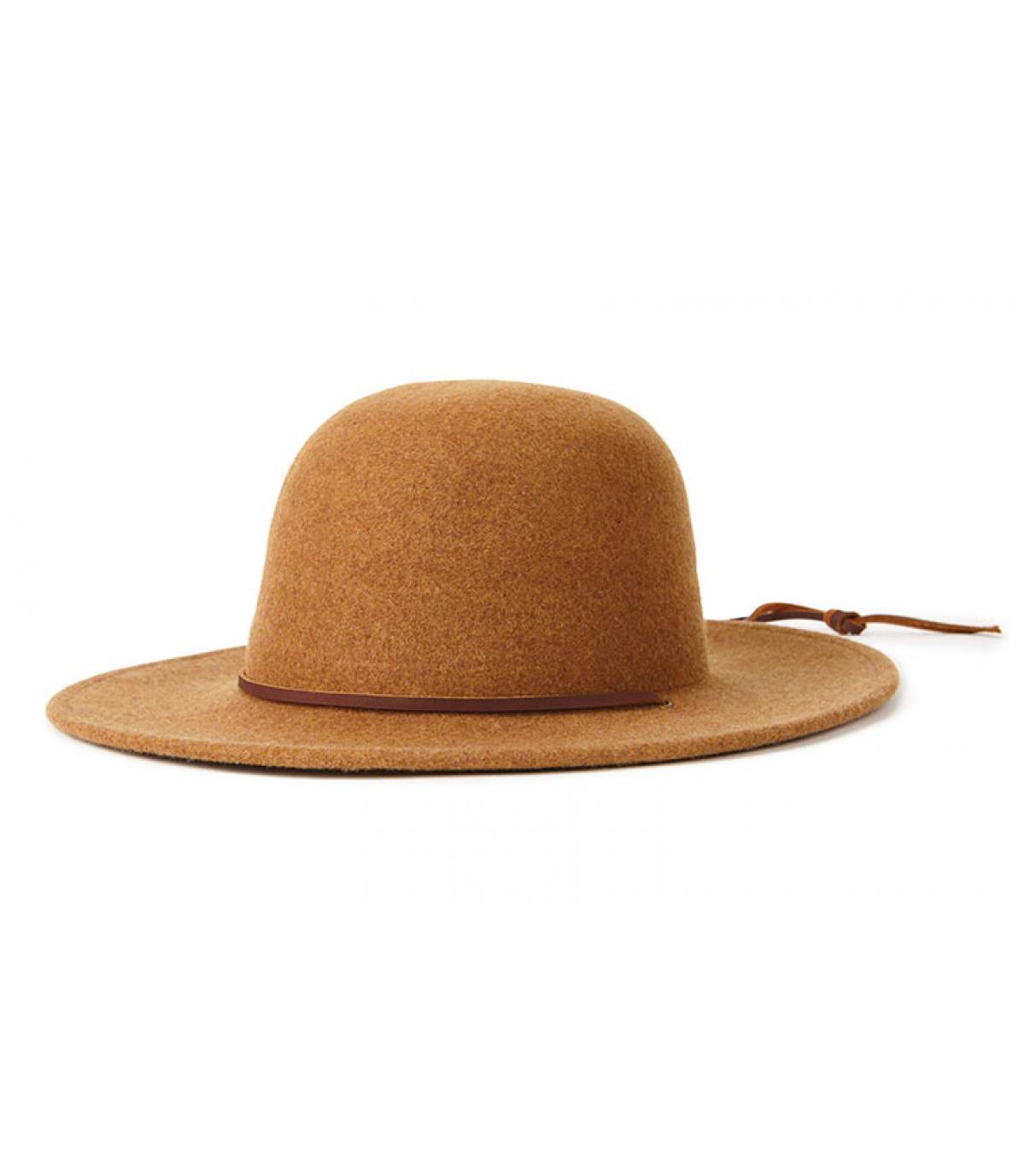women beige felt hat