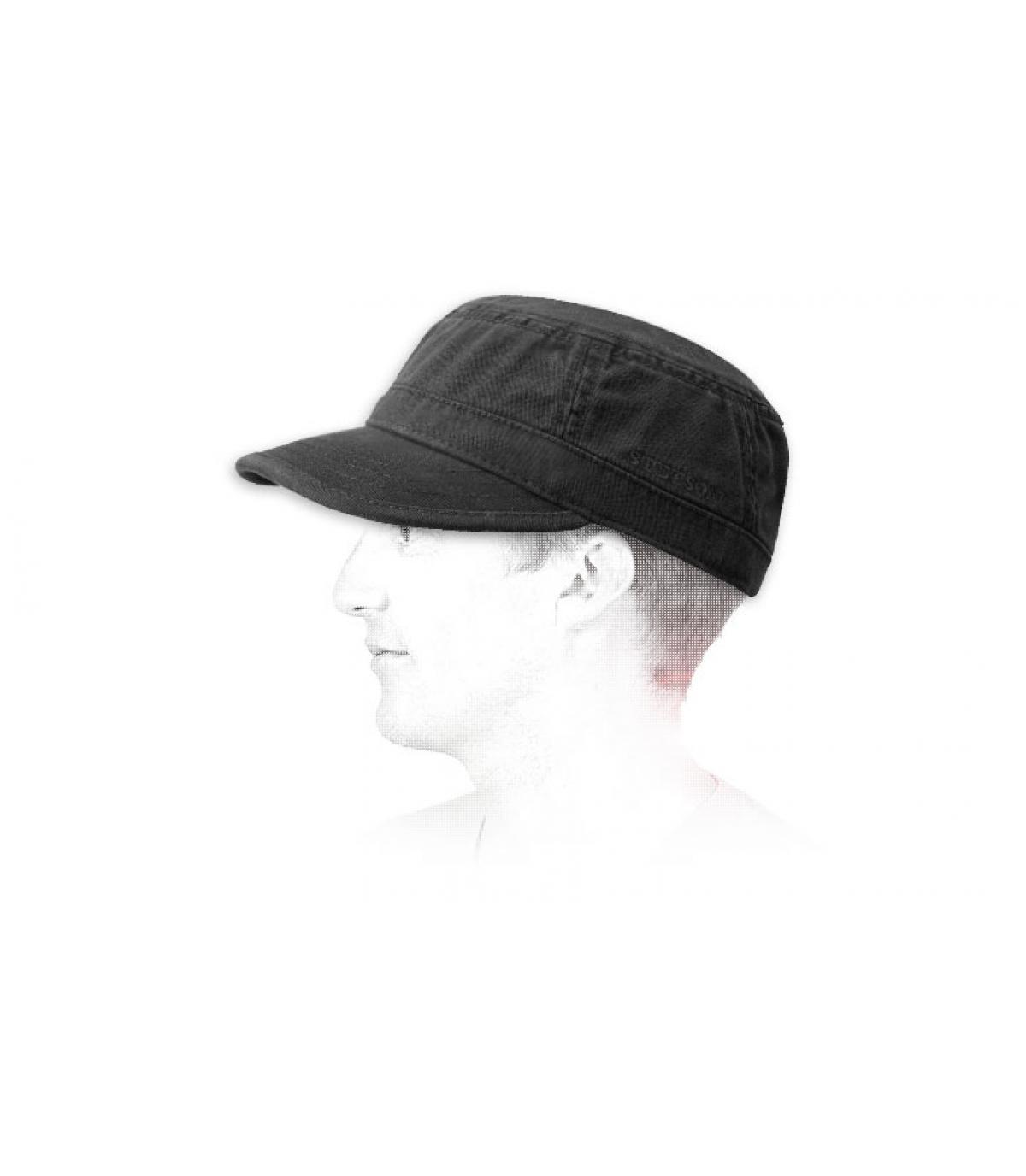 Basic army cap stetson - Gosper black by Stetson 133c737cd6d