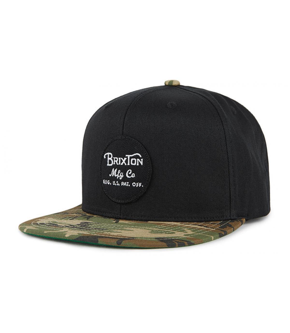 black Brixton snapback camo