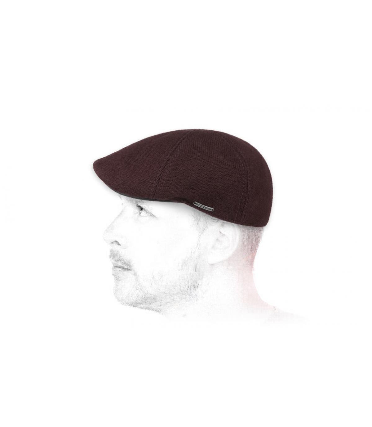 burgundy duckbill cap