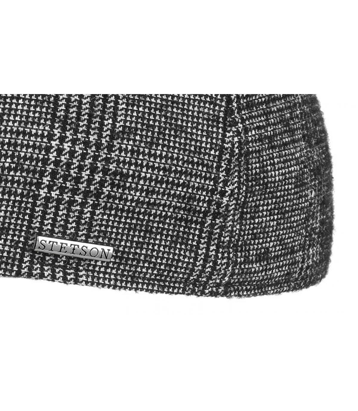 Détails Texas Wool black white check - image 3