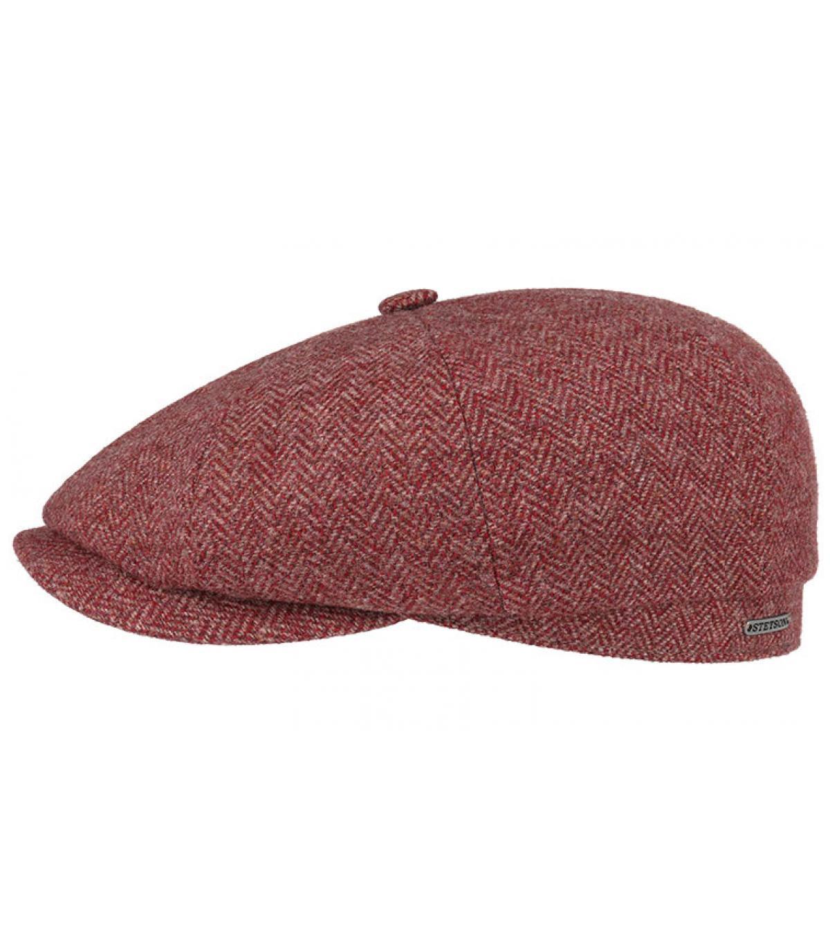 df05d5fd6bb burgundy newsboy cap wool - Hatteras Woolrich Herringbone bordeaux Stetson  - image 1 ...