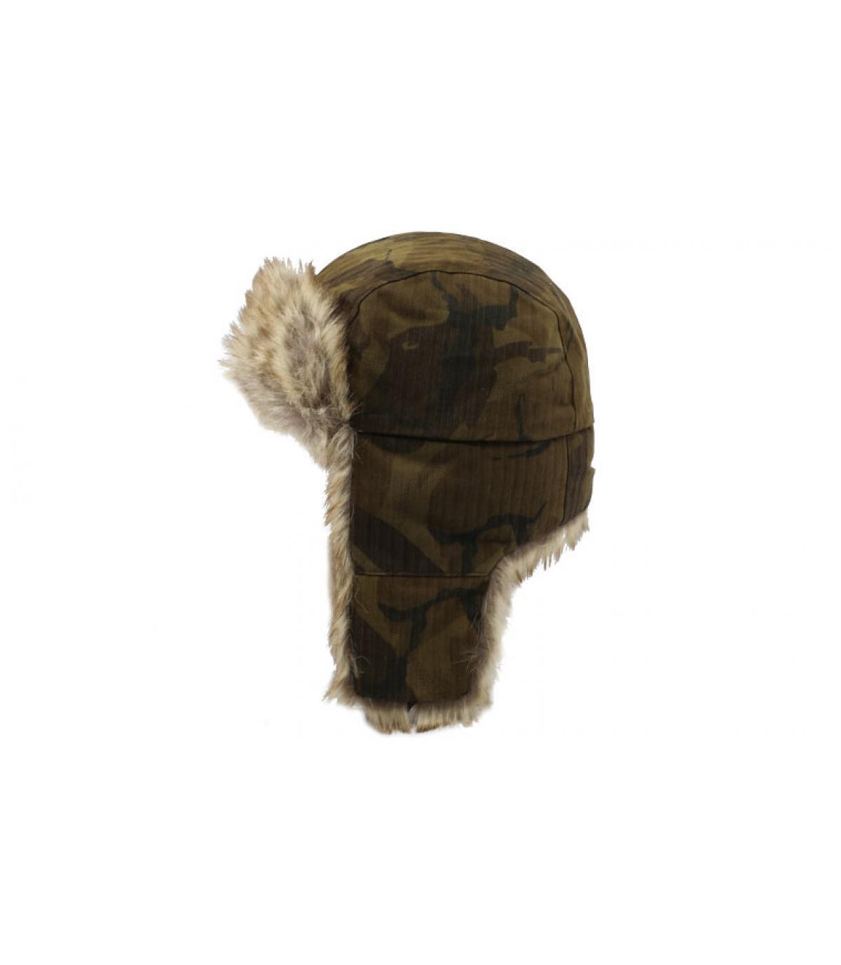 Détails Bomber Cap Waxed Cotton Camouflage - image 2