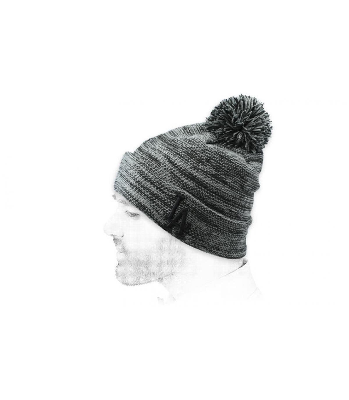 heather grey LA beanie