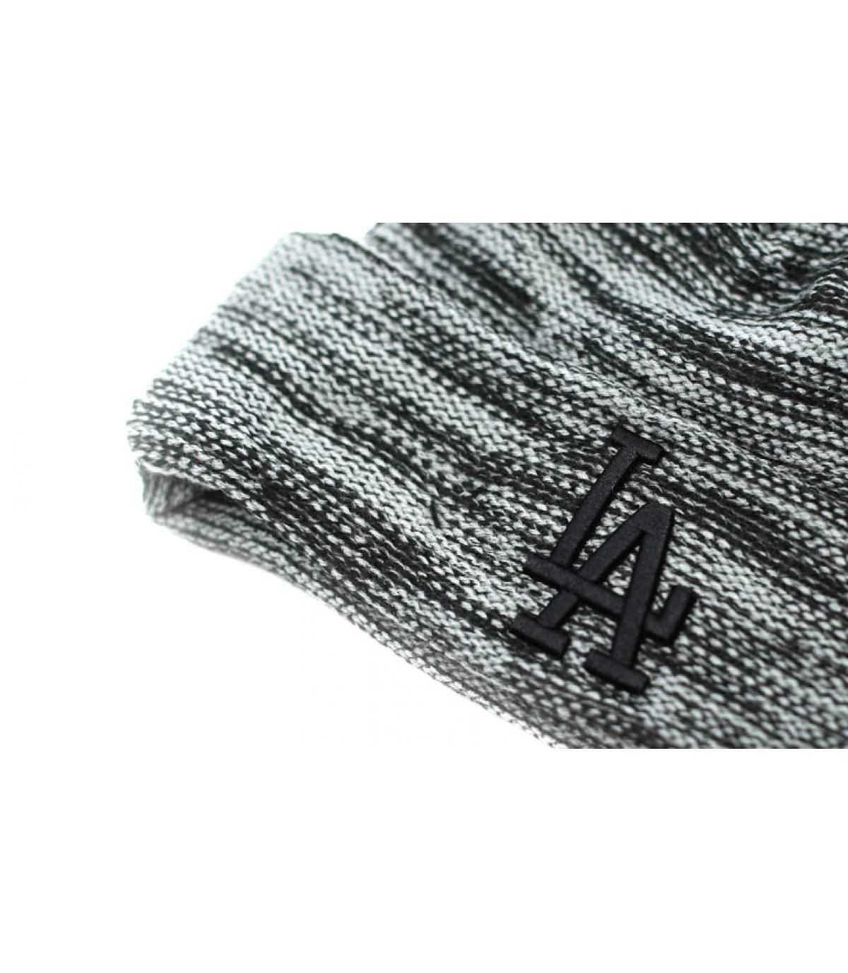 Détails LA Marl Knit storm gray black - image 3
