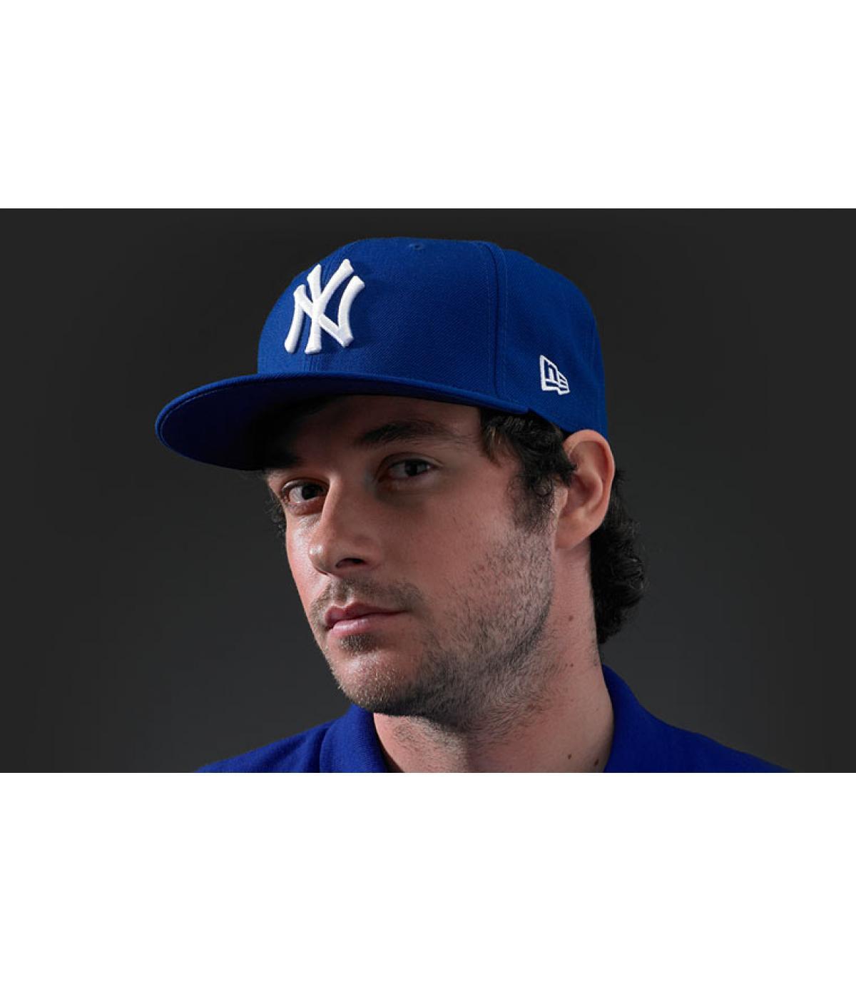new era ny caps - MLB Basic active blue New Era - image 1 ... d1d529a1cde
