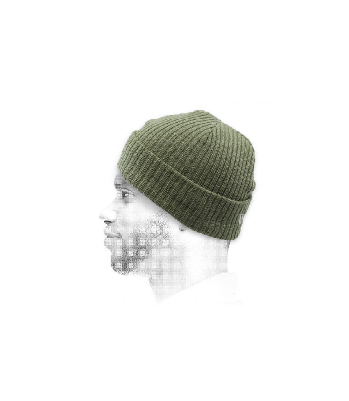 olive-green docker beanie