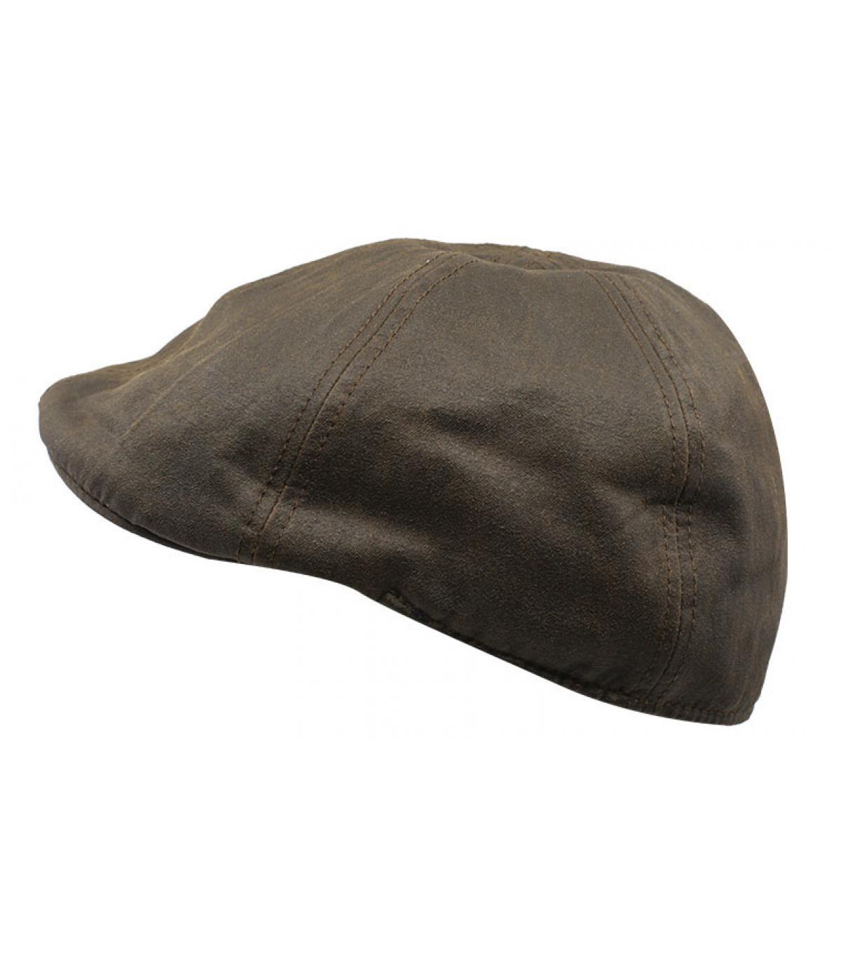brown cotton duckbill cap