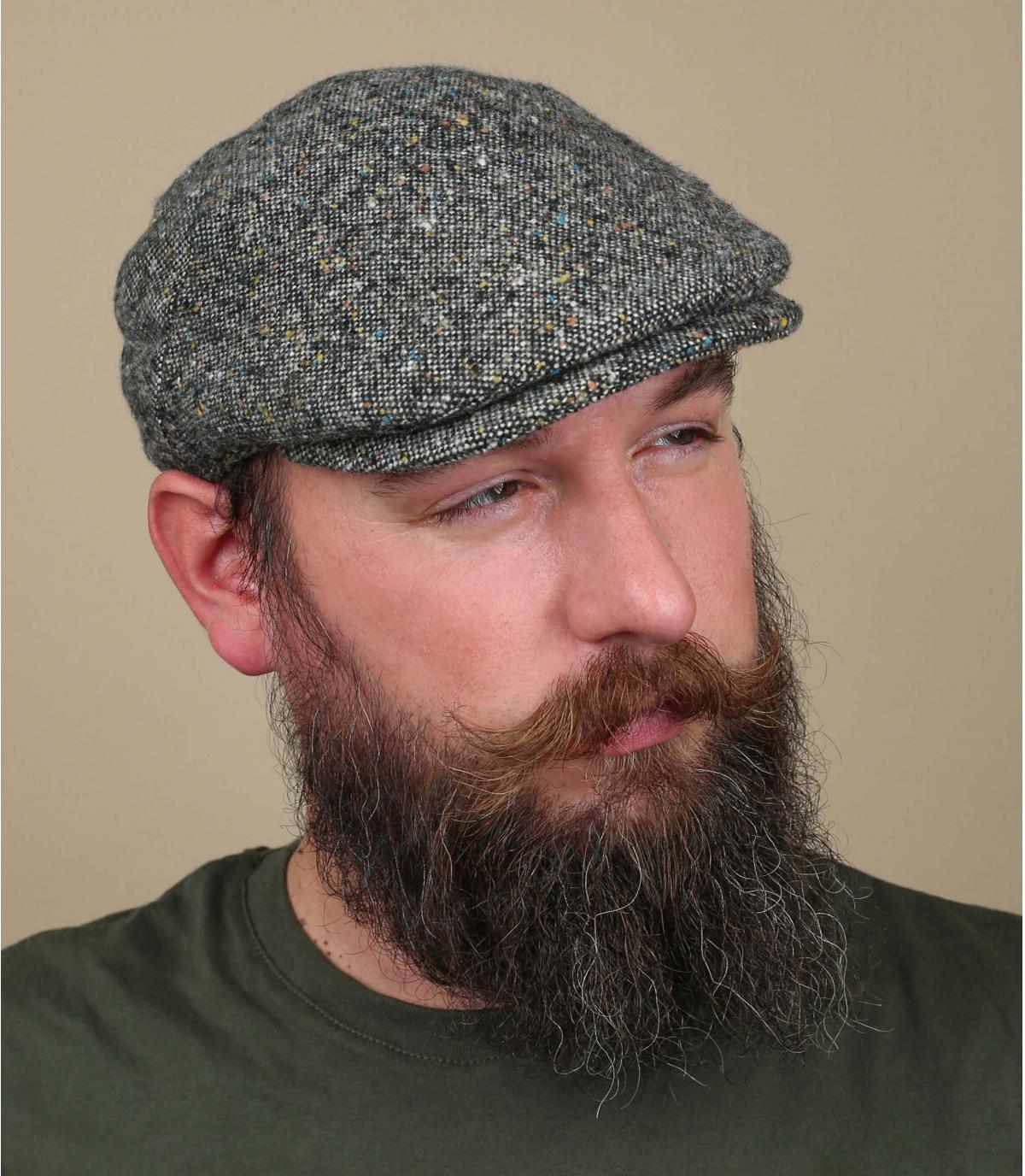 flat cap heather grey wool