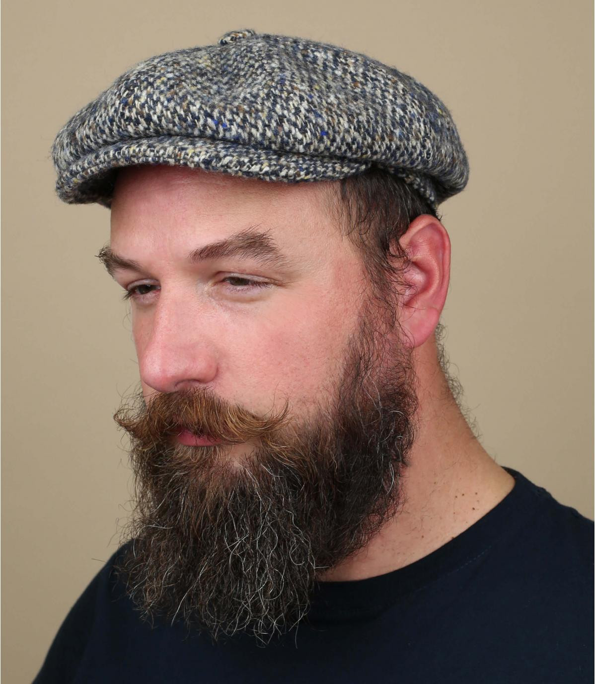 newsboy cap grey wool