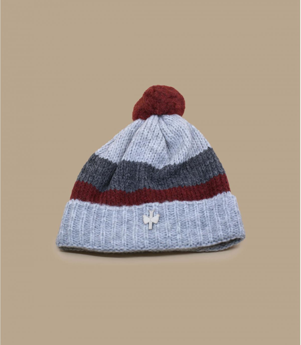 grey pompom beanie wool