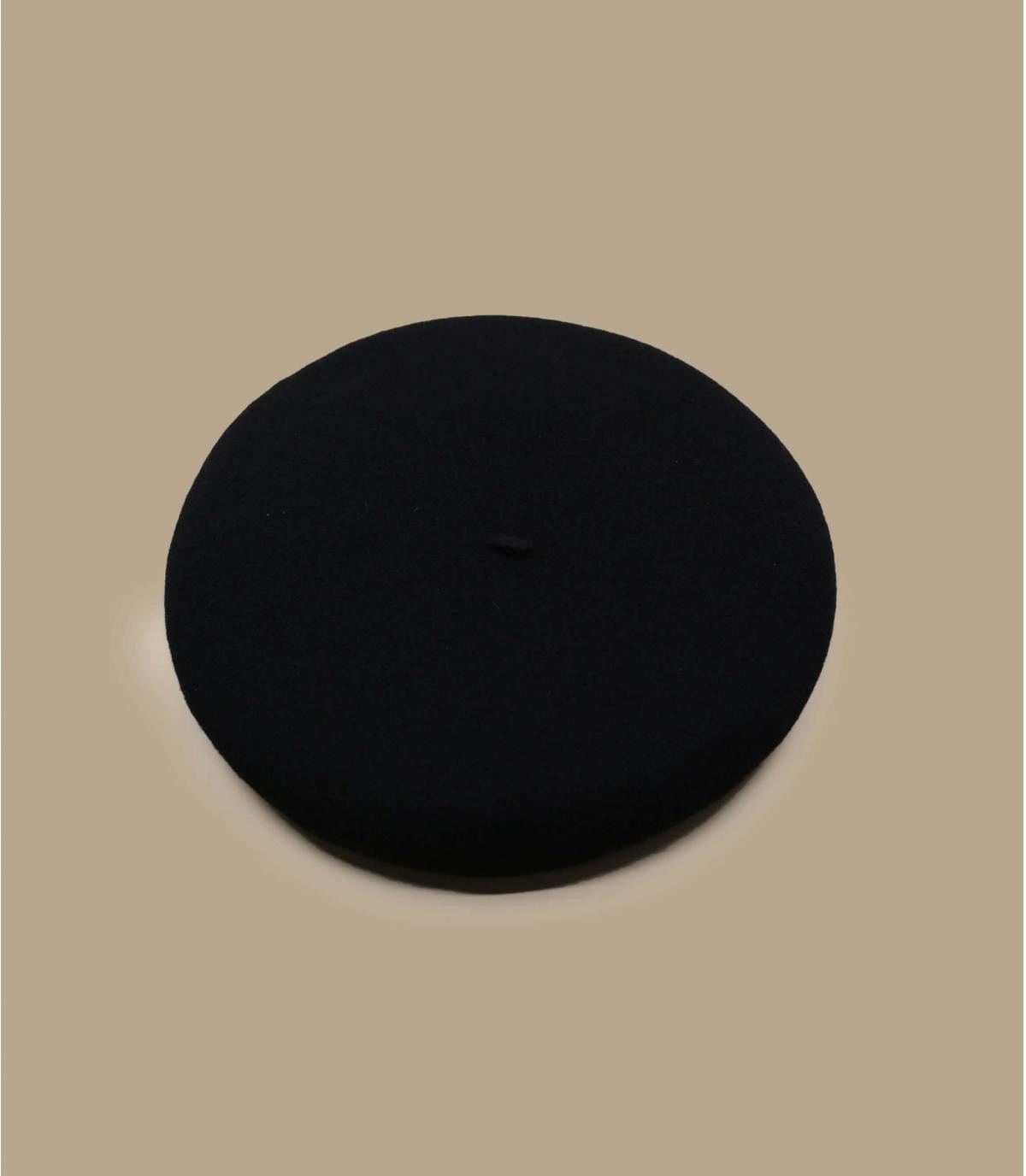 0e98e80e686999 Vrai basque black - Black french beret by Laulhere.