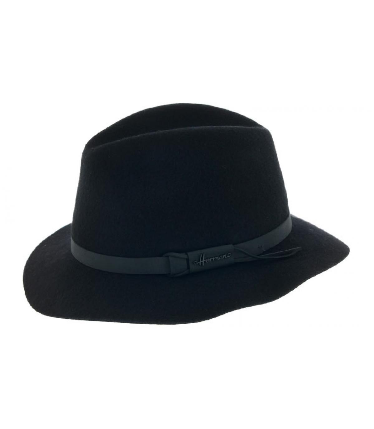 black foldable fedora