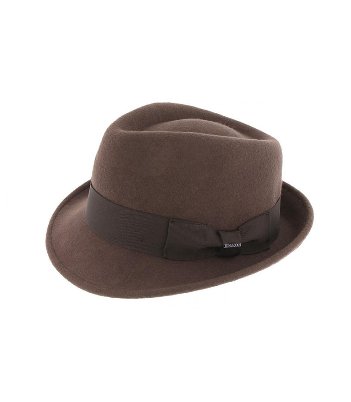brown felt trilby Herman