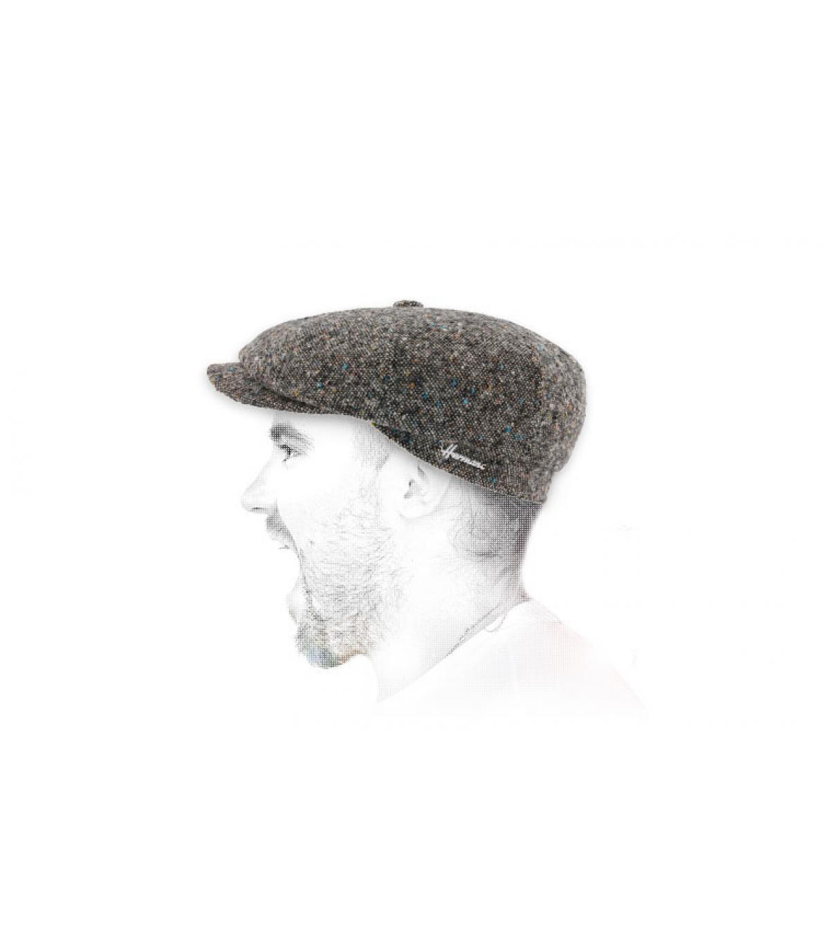 Newsboy cap heather grey wool