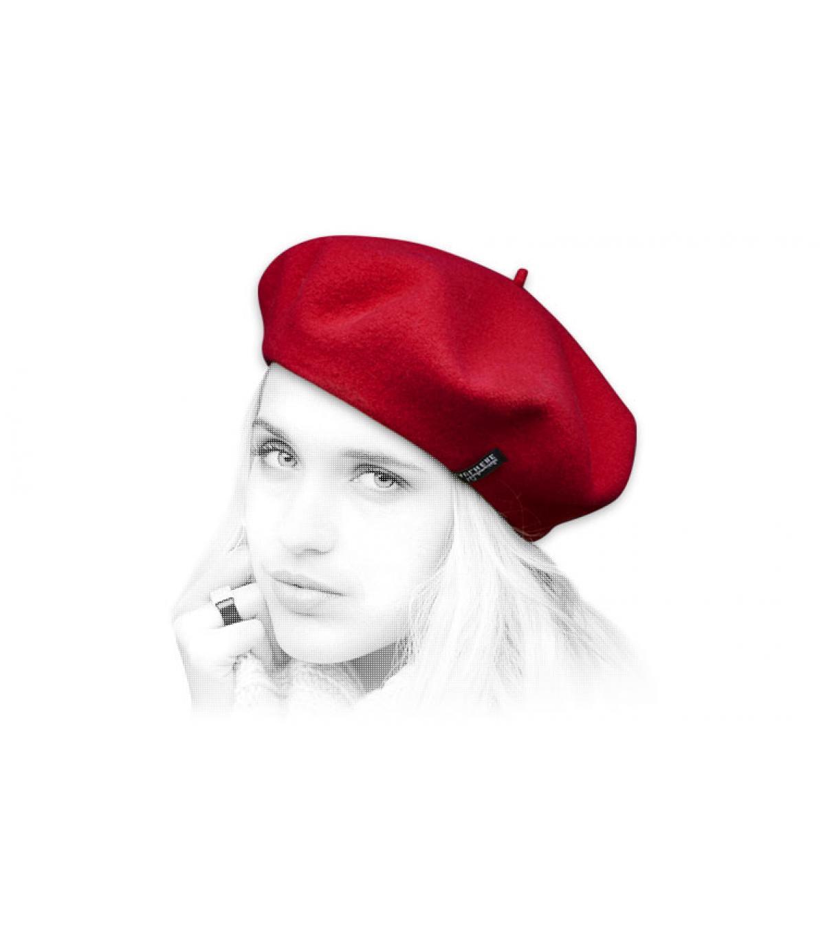 Women beret red