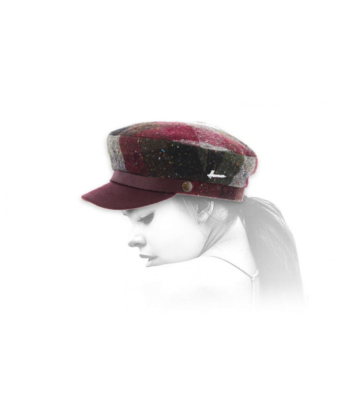 burgundy fisherman cap check