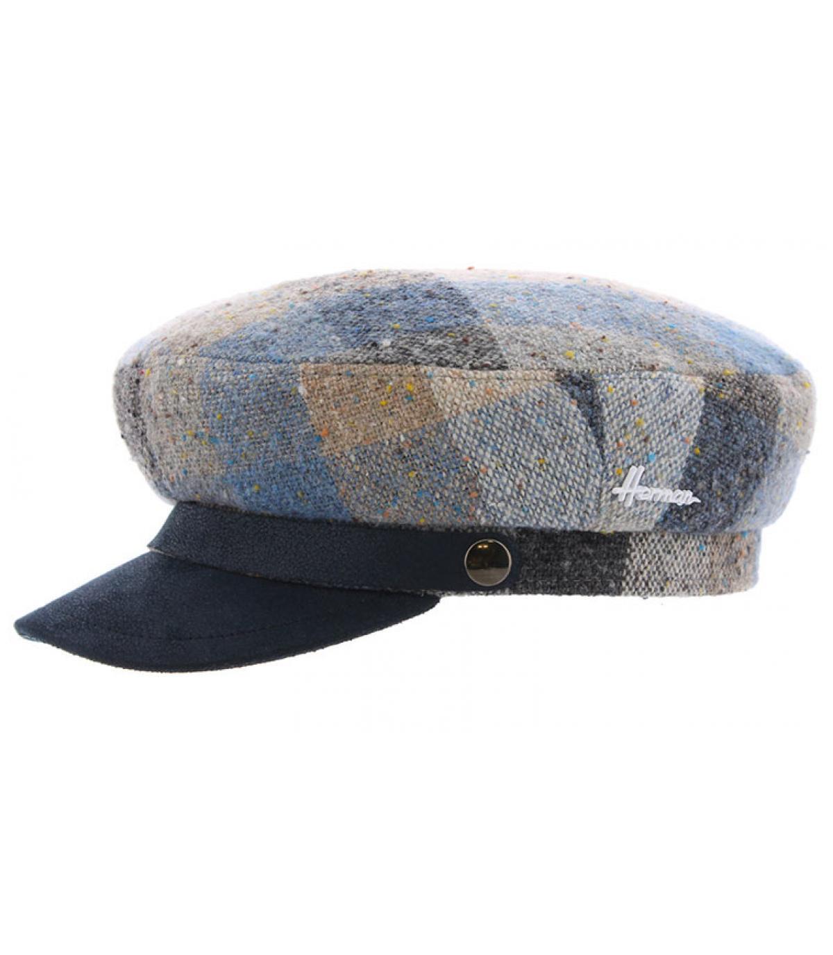 blue fisherman cap check
