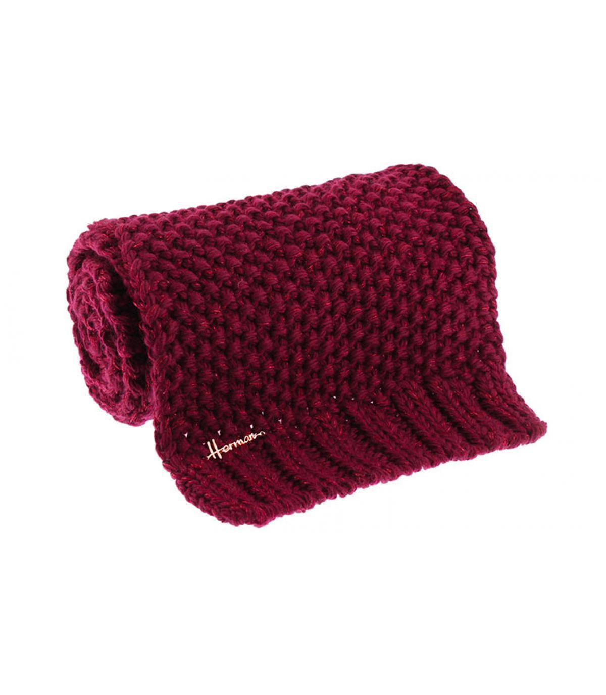 burgundy scarf Lurex