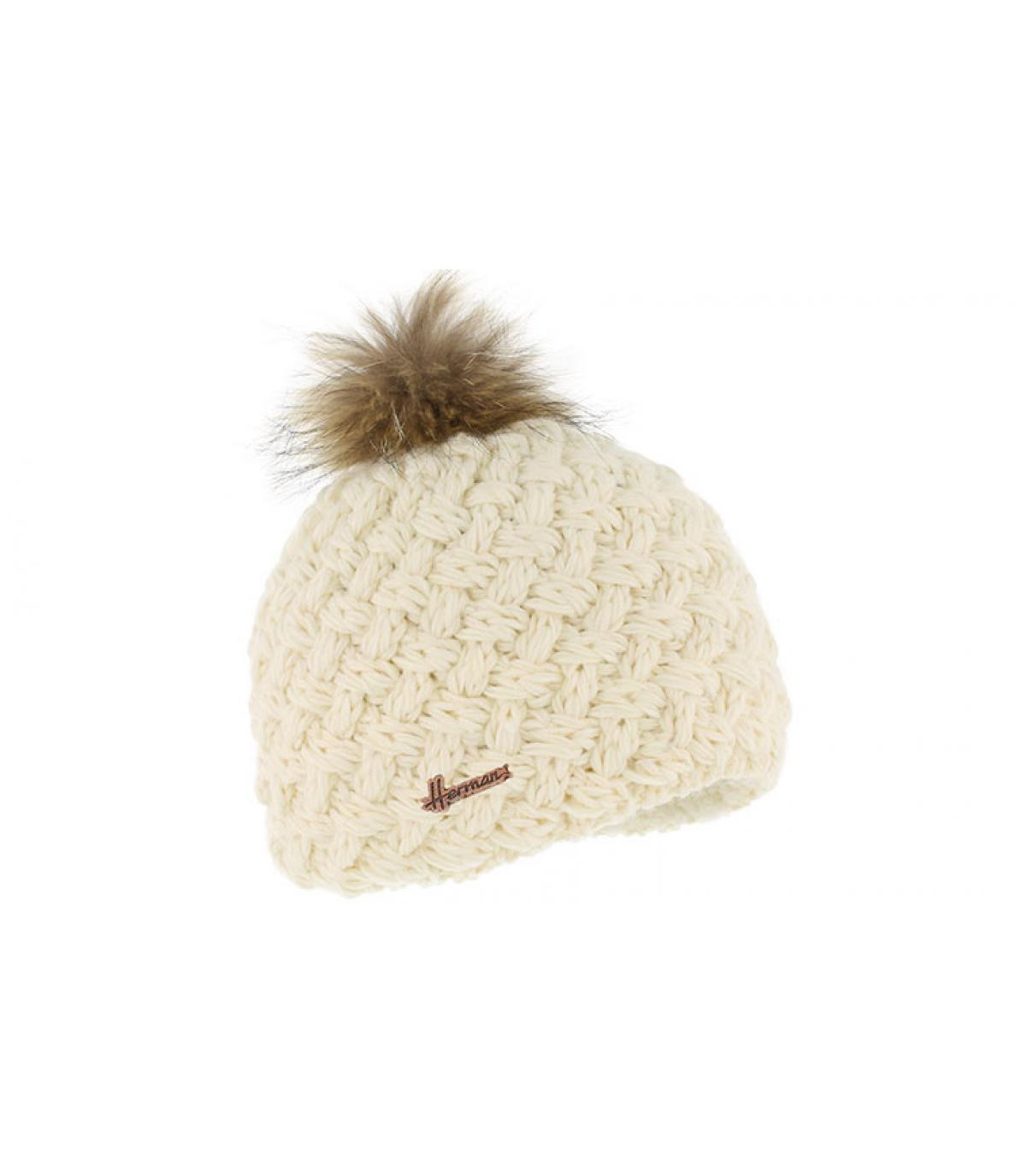 white wool beanie fur