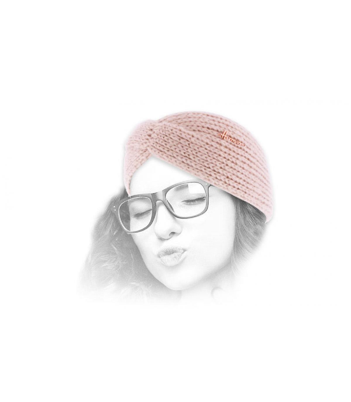 pink woman headband