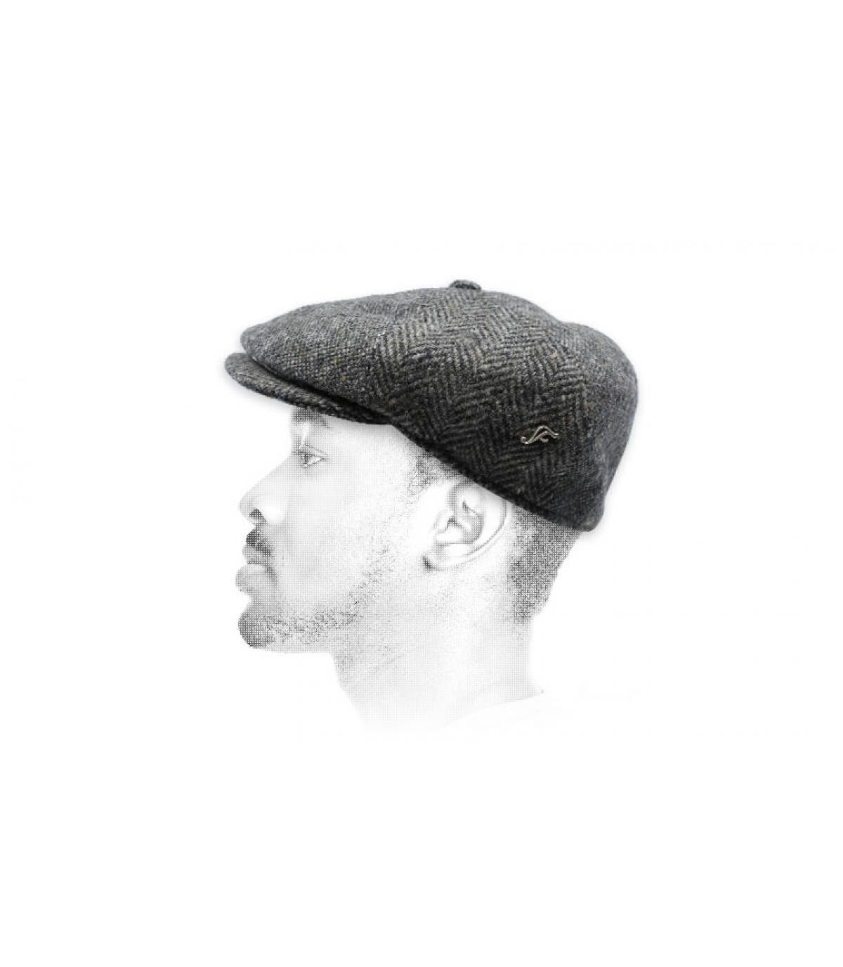 grey wool newsboy cap