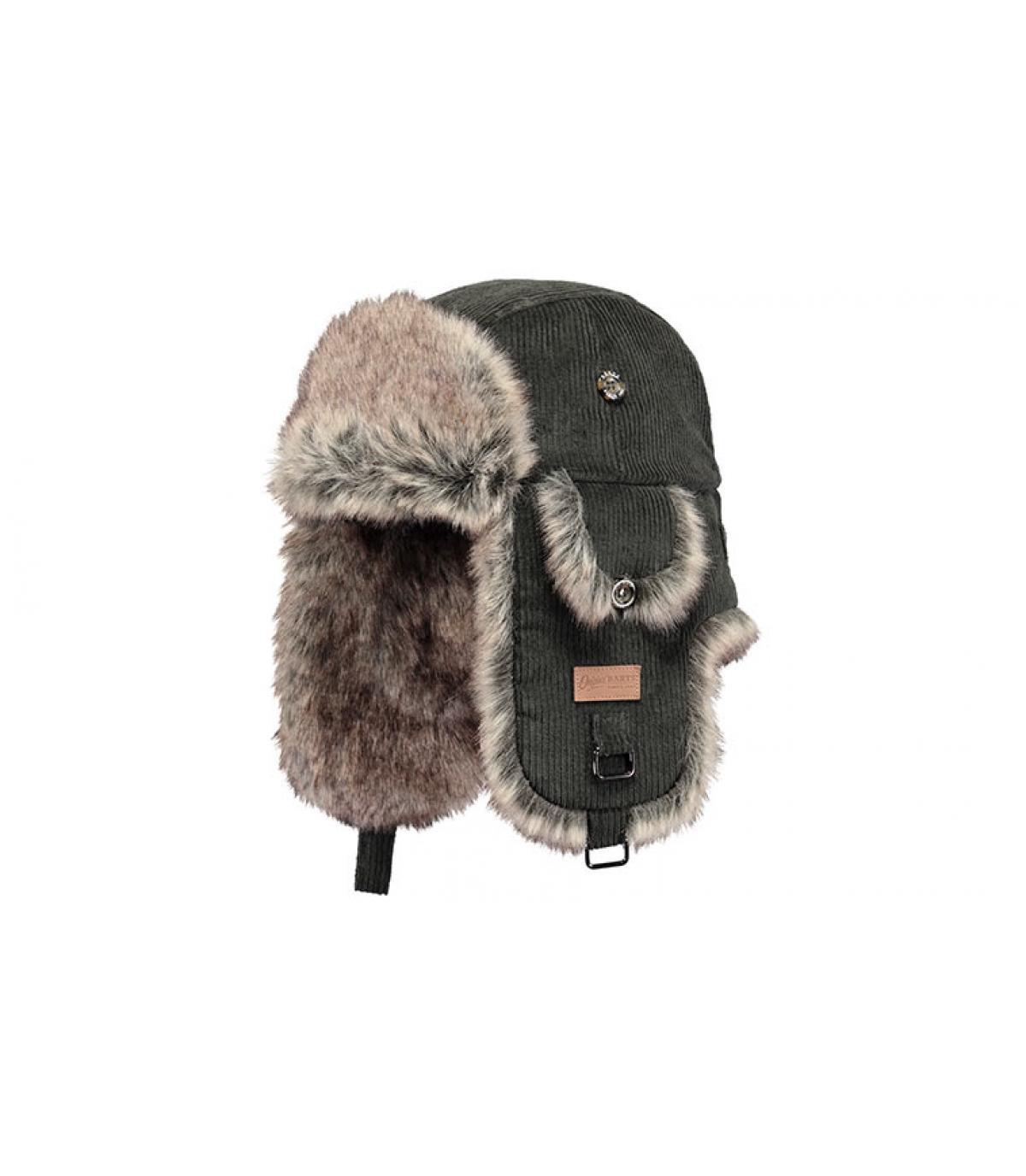 5a0a5d8d985 Barts. green fur trapper hat. Détails Rib Bomber army - image 4  Détails Rib  Bomber army - image ...