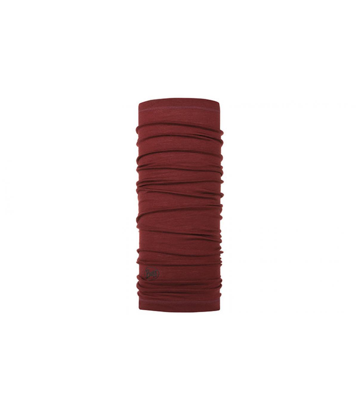 burgundy merino wool Buff