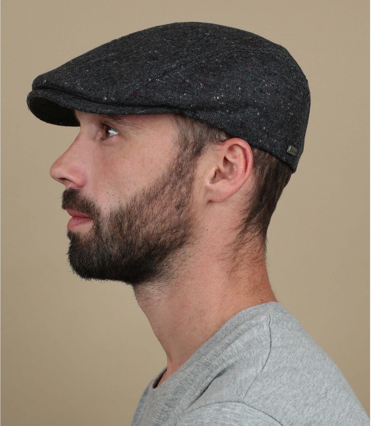 heather grey beret