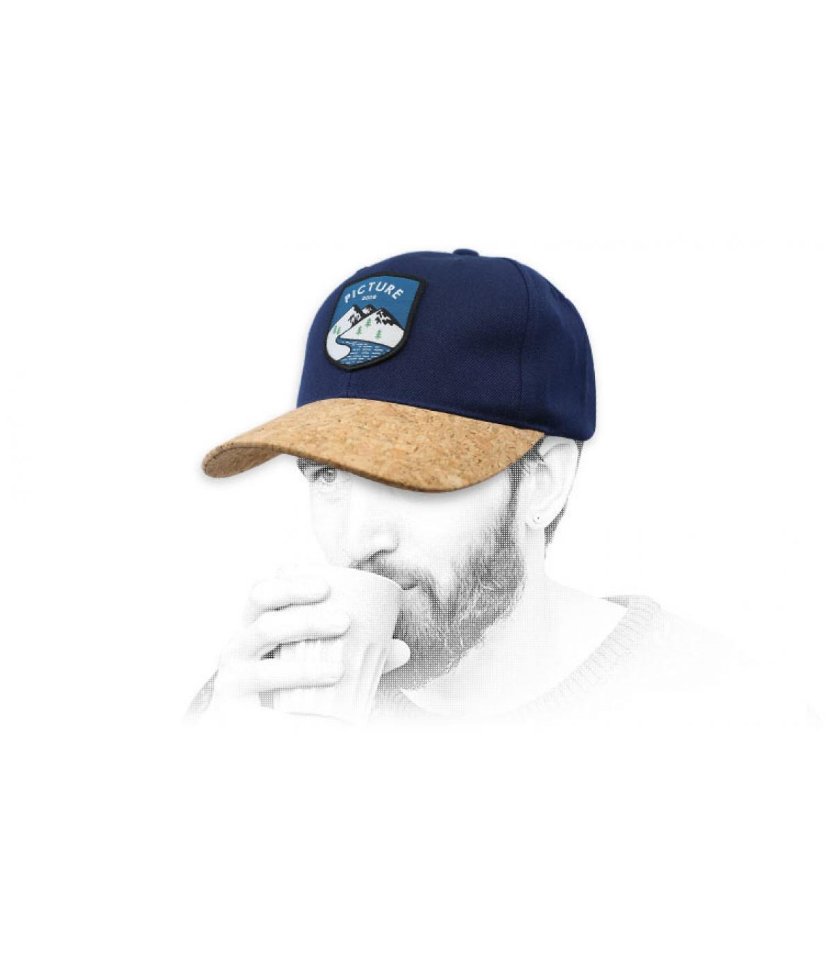 Picture cap blue cork