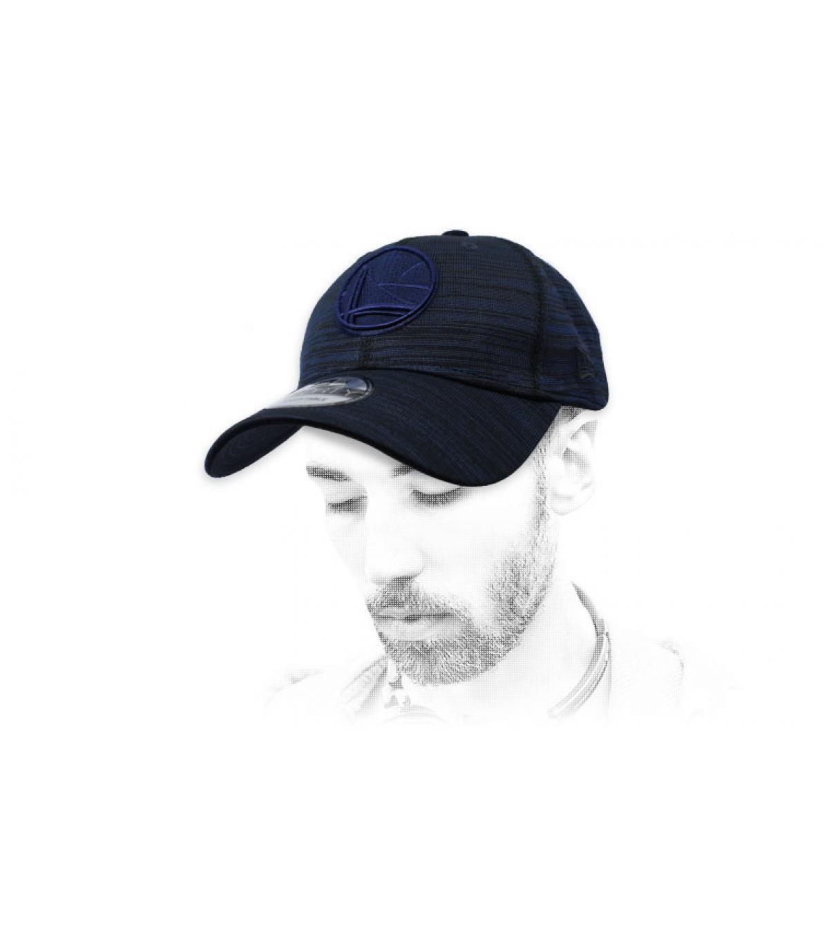 heather blue Warriors cap