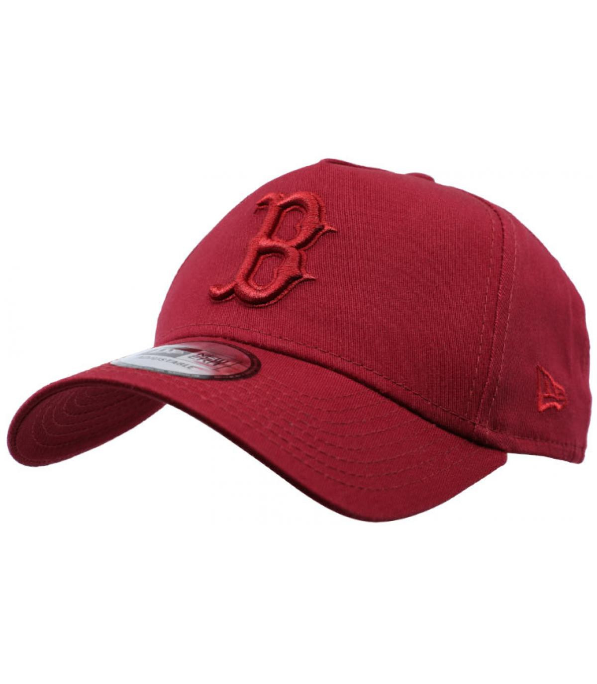 burgundy B cap