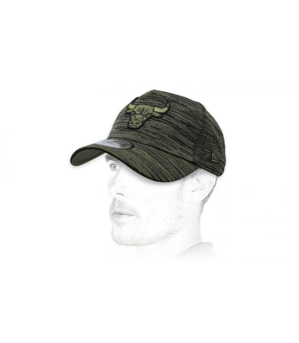 heather green Bulls cap
