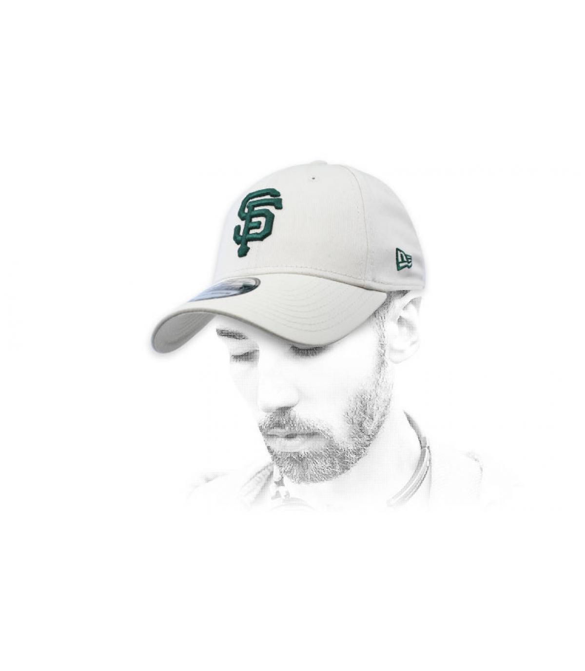 grey green SF cap