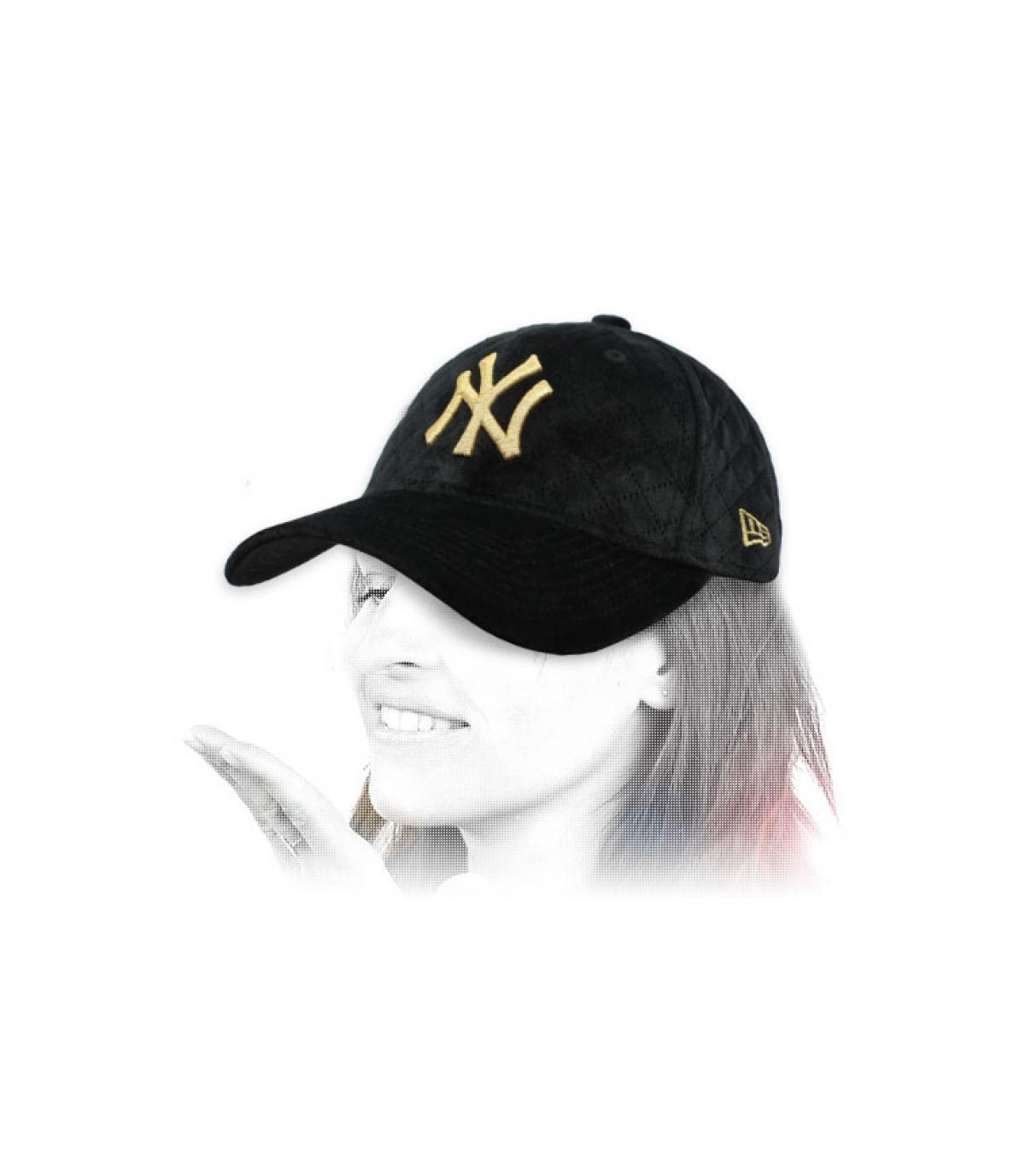 women black NY cap