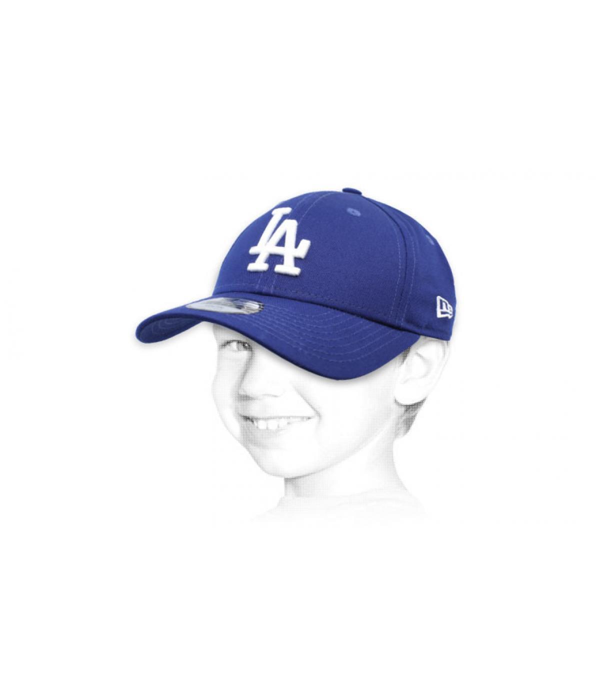 kid blue LA cap