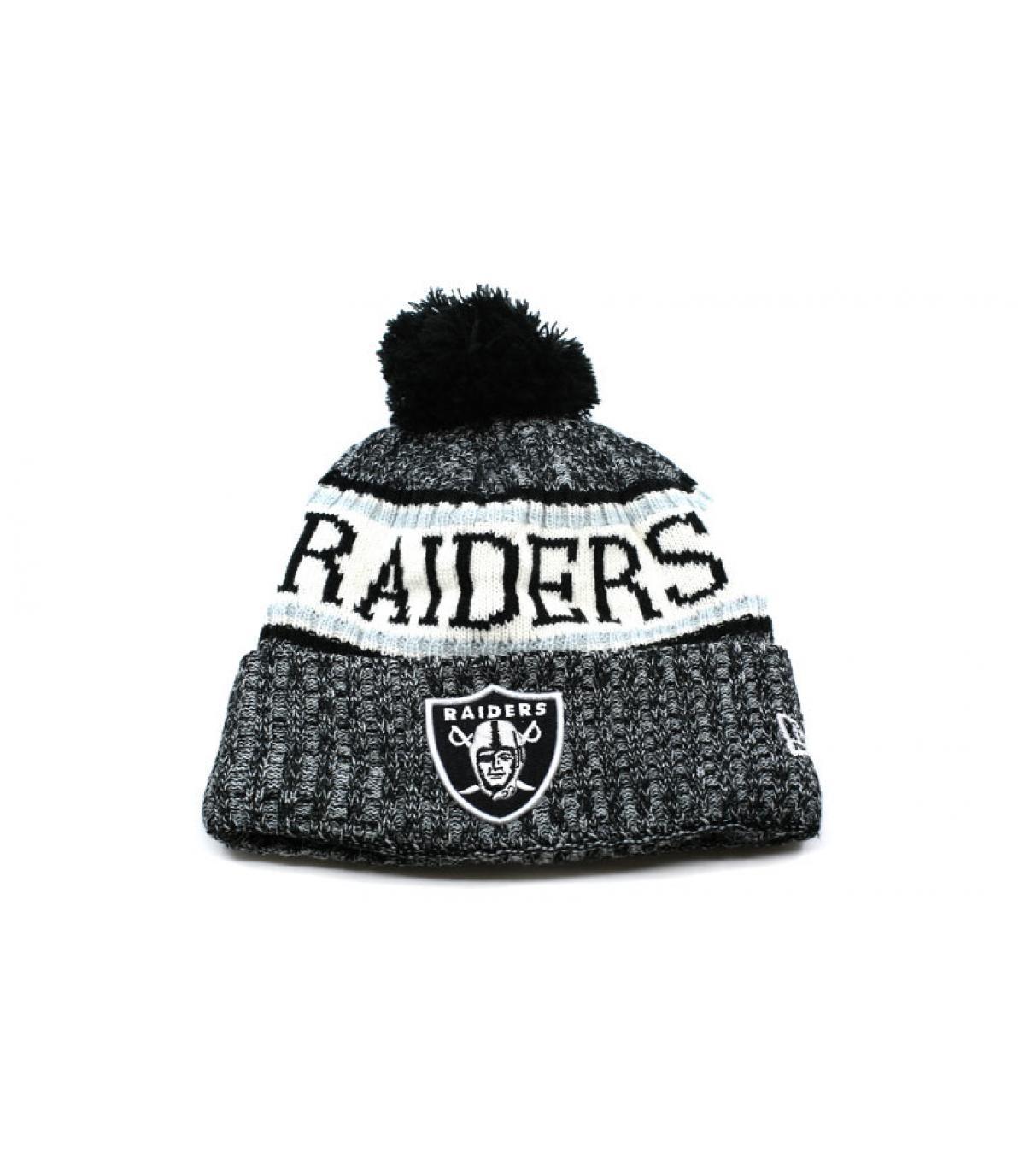 abb61524818 Raiders beanie grey pompom - NFL Sideline Sport Knit Raiders by New ...