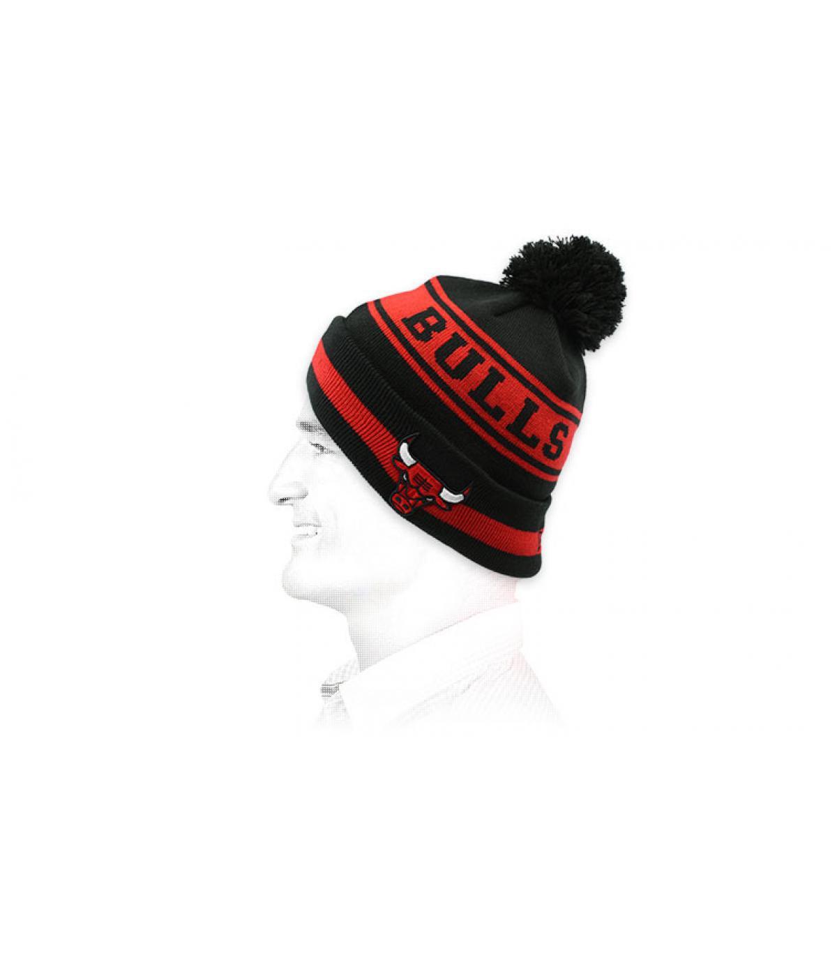 black red Bulls beanie