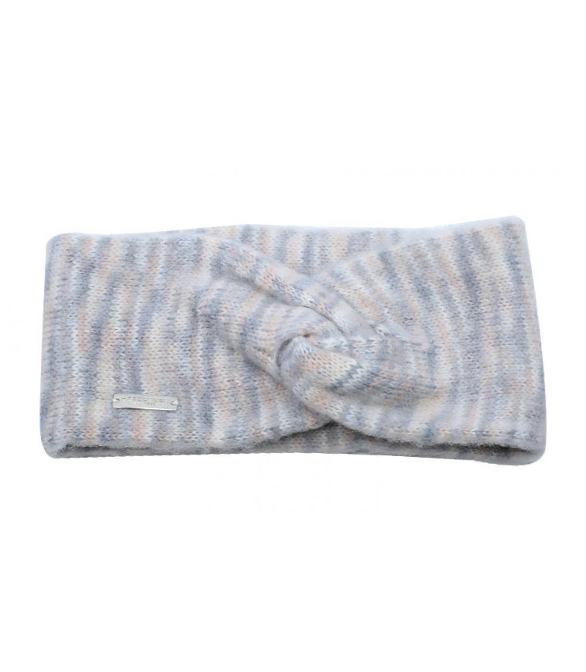 beige grey heather headband