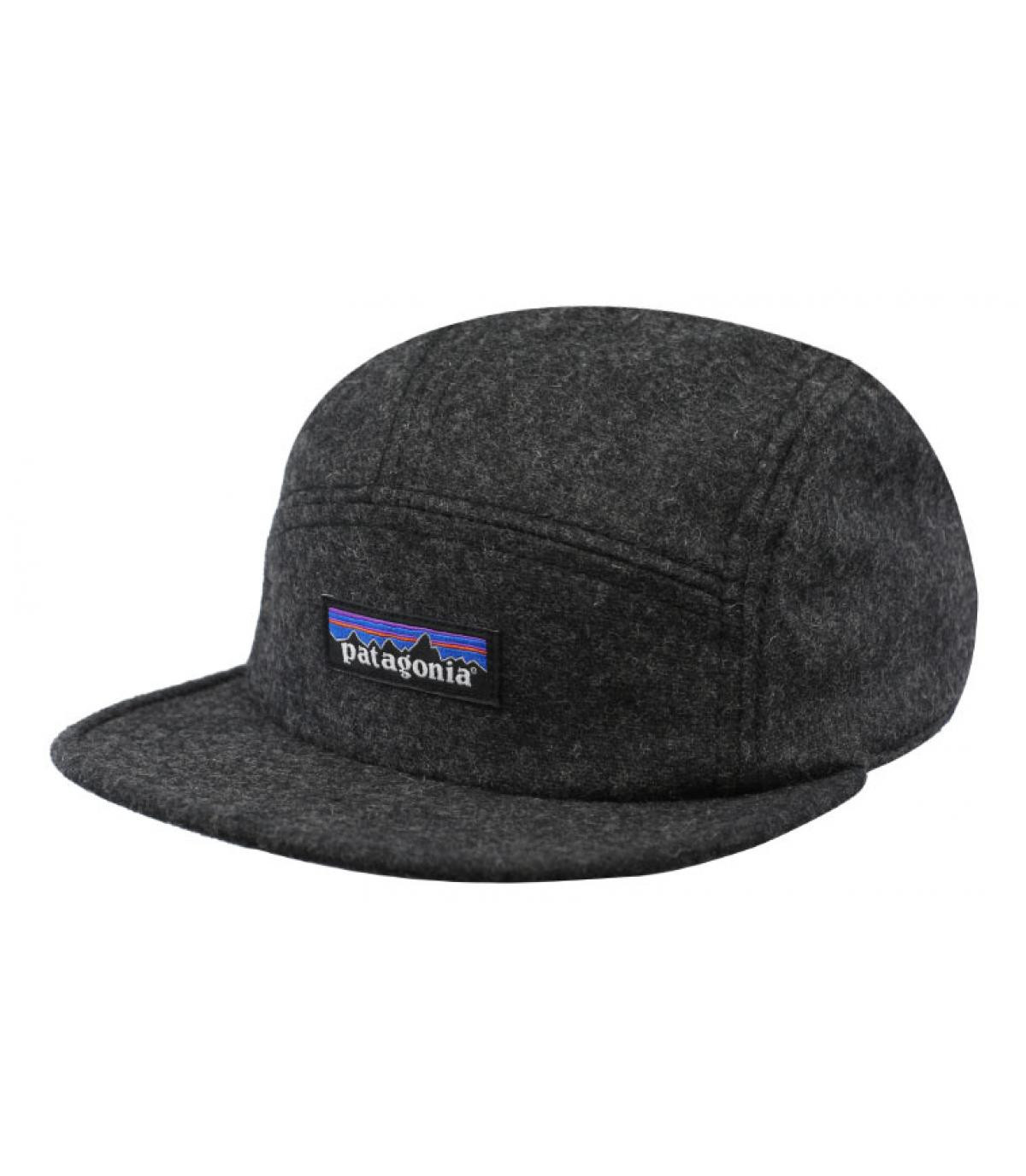 f401cd30 grey 5 panel cap Patagonia - Recycled Wool Cap forge grey by ...